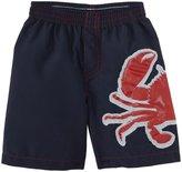 City Threads Crab Applique Swim Trunks (Toddler/Kid) - Navy-4