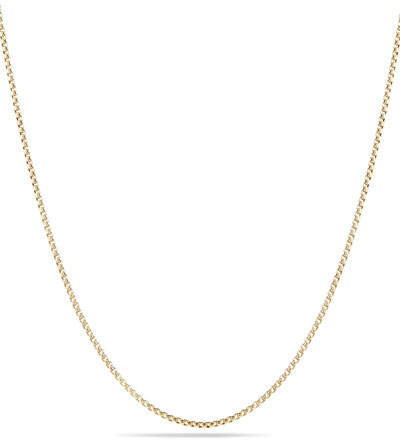 David Yurman Box Chain Necklace with Spiritual Bead Clasp