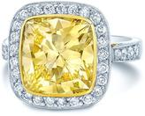 Ice 5 1/3 CT TW Yellow and White Diamond Platinum Halo Engagement Ring