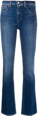 L'Agence Denim Straight Leg Jeans