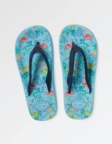 Fat Face Bay Jungle Print Flip Flops
