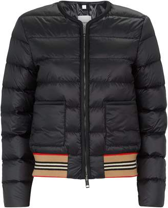 Burberry Icon Stripe Puffer Jacket