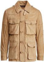Ralph Lauren Purple Label Lanton Suede Jacket