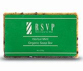 rsvp Skin Care for Men Herbal Mint Organic Soap Bar