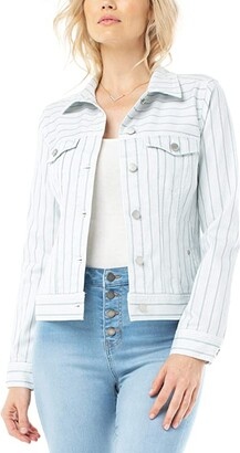Liverpool Classic Jacket (Dawn Blue Dotted Strip) Women's Jacket