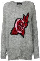 Markus Lupfer Erin oversized rose sweater - women - Nylon/Alpaca/Merino/plastic - M