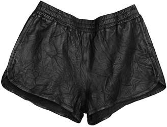 Zadig & Voltaire Spring Summer 2019 Black Leather Shorts