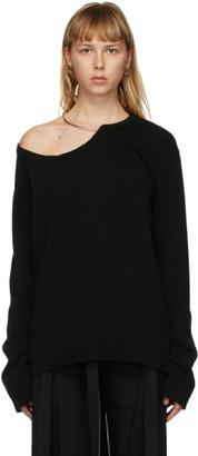 Ann Demeulemeester Black Wool Oversized Sweater