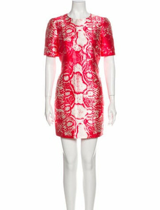 Giambattista Valli Animal Print Mini Dress w/ Tags Red