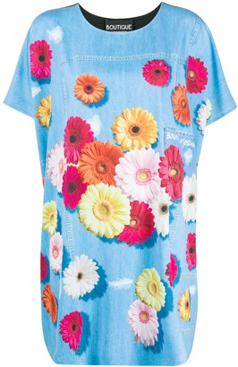 Moschino Floral Print T-Shirt Dress