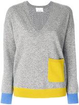 Allude contrast pocket jumper