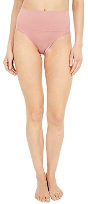 Yummie Ultralight Seamless Shaping Thong (Ash Rose) Women's Underwear