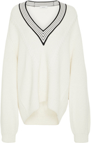 Carven V-Neck Merino Wool Sweater
