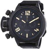 Welder Unisex 3611 Analog Display Quartz Black Watch