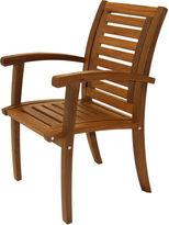 OUTDOOR INTERIORS Outdoor Interiors Luxe Arm Chair in Brazilian Eucalyptus