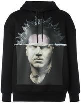 Neil Barrett head print hoodie - men - Polyurethane/Viscose - M