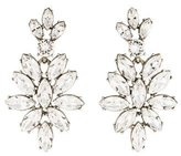Oscar de la Renta Navette Crystal Drop Earrings