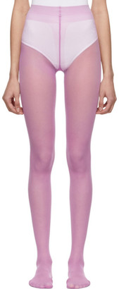 Gucci Purple Plain Logo Tights