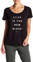 Betsey Johnson Love Is The New Black Swing Tee