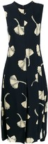 Victoria Beckham pleat panel fit and flare dress