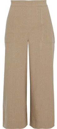 Diane von Furstenberg Cornelia Cropped Linen-blend Wide-leg Pants