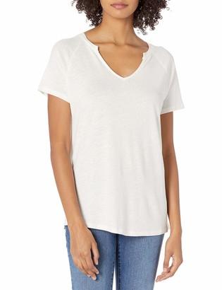 Goodthreads Linen Modal Jersey Short-Sleeve Slit-Neck T-Shirt