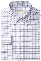 Haggar Men's Regular-Fit Checkered Oxford Button-Front Shirt