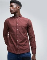 WÅVEN Burgundy Oxford Shirt