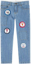 Stella McCartney Boy regular fit jeans with fancy patches - Lohan