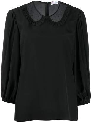 RED Valentino Sheer-Collar Blouse