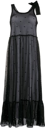 RED Valentino Mesh Midi Dress