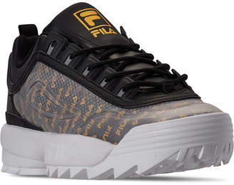 Fila Women Disruptor Ii Premium Clear Logos Casual Athletic Sneakers from Finish Line