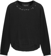 Simone Rocha Embellished merino wool, silk and cashmere-blend sweater