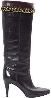 Sergio Rossi \N Purple Leather Boots