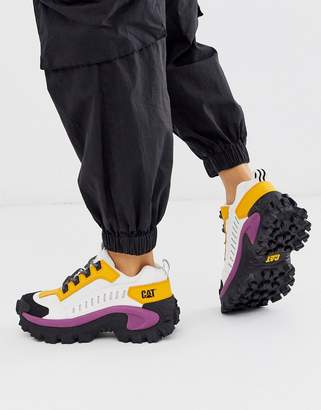 CAT Footwear CAT Intruder chunky trainers in yellow and pink colour block-Multi