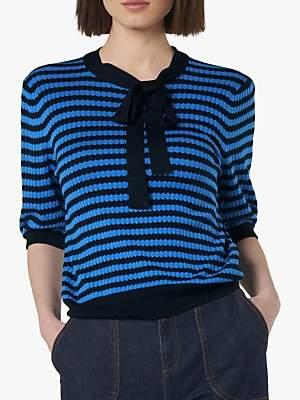 LK Bennett L.K.Bennett Colette Tie Stripe Jumper, Blue/Multi