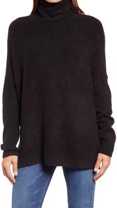 Lou & Grey Serena Poncho Turtleneck Sweater