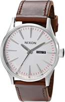 Nixon Men's A1051113 Sentry Leather Watch