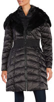 Laundry by Shelli Segal Faux Fur-Accented Puffer Coat