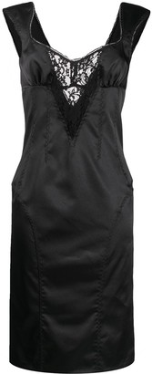 Dolce & Gabbana Pre Owned Lace Cut-Out Slim-Fit Dress