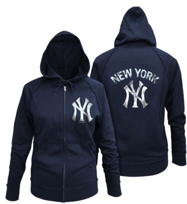 MLB Women Fleece Zip Tyankees Navy