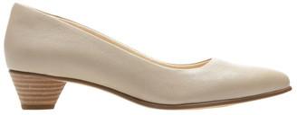 Clarks Mena Bloom Sand Leather Heeled Shoe