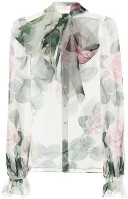 Dolce & Gabbana Floral silk-organza blouse