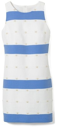Vince Camuto Jacquard Stripe Shift Dress