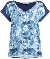 Calvin Klein Casual woven top in indigo flower aop
