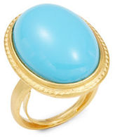 Kenneth Jay Lane Couture Cabochon Turquoise Adjustable Ring
