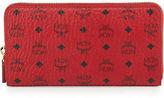 MCM Color Visetos Large Zip-Around Wallet