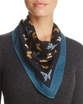 Echo Butterfly Print Square Scarf