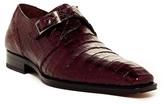 Mezlan Gables Genuine Crocodile Monk Strap Shoe