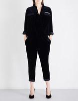 Brunello Cucinelli Monili chain-embellished velvet jumpsuit